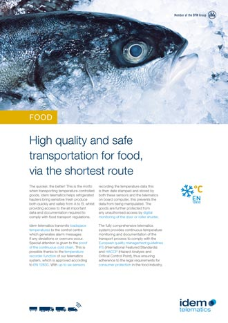 brochure foodstuff transport